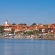 Panoramic view of ancient town on the coast. Nessebar, Bulgaria — Stock Photo #55512109