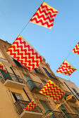 Flags of Tarragona town and Catalonia — Stock Photo