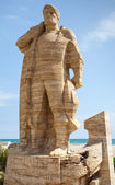 Monument to fisherman in Calafell — Stock Photo