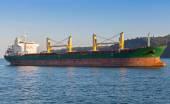Bulk carrier. Cargo ship sails on the Black Sea — Stock Photo
