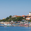 Panoramic view of ancient town on the Black Sea coast. Nesebar, — Stock Photo #56113791