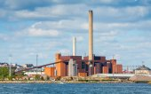 Power Plant in a summer day, Helsinki, Finland — Stock Photo
