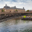 Passerelle Leopold-Sedar-Senghor in rainy summer day, Paris — Stock Photo #57537195