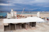 New terminals under construction in Port Tanger-Med 2 — Stock Photo