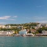 Summer panoramic landscape of Balchik town — Stock Photo #57846421