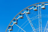 Ferris wheel over sky background — Foto Stock