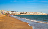 Sandy beach of Tangier, Morocco, Africa — Stock Photo