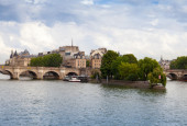 Cite Island and Pont Neuf, Paris — Stock Photo