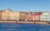 Panorama of The Universitetskaya Embankment — Stockfoto
