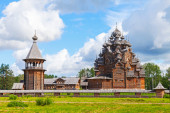 Russian wooden Church of the Intercession — Stock Photo