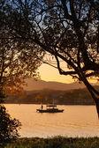 Chinese wooden recreation boat. West Lake, Hangzhou — Stock Photo