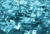 Abstract chaotic dark blue digital triangle low poly background — Stockfoto