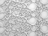 3d background with chaotic intersected relief circles pattern — Stock Photo