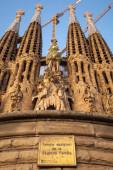 La Sagrada Familia, cathedral designed by Antoni Gaudi — Foto Stock