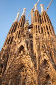 La Sagrada Familia, cathedral designed by Gaudi — Foto Stock