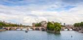 Panoramic rhoto of Cite Island and Pont Neuf, Paris — Stock Photo