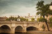 Pont Neuf in Paris. Vintage toned photo — Stockfoto