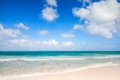 Empty beach coastal landscape. Atlantic ocean, Punta Cana — Stockfoto