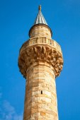 Minaret of Camii mosque, Konak square, Izmir, Turkey — Foto de Stock