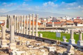 Ruins of Ancient Smyrna in Izmir city, Turkey — Stock Photo