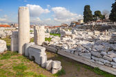 Izmir, Turkey, Ruins of Ancient Smyrna in a summer day — Stock Photo