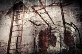 Abandoned bunker interior with rusted constructions — ストック写真
