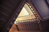 Abstract interior of triangle shaped flight of stair — Stock Photo