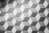 Ttiling auf dem Boden, kubische Muster retro-Stil — Stockfoto