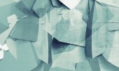 Abstract chaotic polygonal fragments on concrete wall — Stock Photo