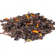 Tea mixed with safflower and hibiscus petals isolated on white — Stock Photo #67801285