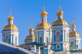 St. Nicholas Naval Cathedral, Saint-Petersburg, Russia — Foto de Stock