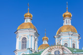 St. Nicholas Naval Cathedral, St.Petersburg — Stock Photo