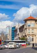 Central part of Izmir city, street view — Stock Photo
