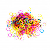 Pile of small round colorful rubber bands — Stock Photo
