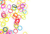 Small round colorful rubber bands for loom bracelets — Stock Photo
