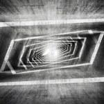 Abstract dark grungy concrete surreal tunnel interior  — Stock Photo #69295295