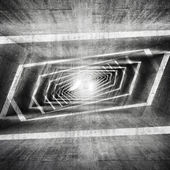 Abstract dark grungy concrete surreal tunnel interior  — Stock Photo