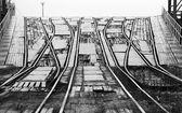 Railway ramp for loading big industrial Ro-Ro ships — Stock Photo