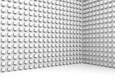 3d Architektur abstrakt mit kleine Würfel — Stockfoto