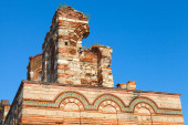 Ruined Church of Christ Pantokrator, in old Nessebar — Stock Photo