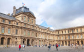 Inner courtyard and exterior of The Louvre, Paris — Stock Photo