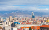 Panorama of Izmir city, Turkey. Modern buildings — Stockfoto