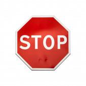 Classico cartello di Stop isolato su bianco — Foto Stock
