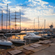 Sailing ships and yachts stand moored in Varna  — Stock Photo #72069869