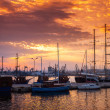 Sailing ships and yachts stand moored in Varna  — Stock Photo #72069871