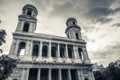 Cephe Paris'te Saint-Sulpice Kilisesi — Stok fotoğraf