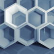 Abstract blue 3 d honeycomb digital structure — Stock Photo #73314373