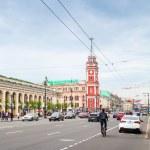 Nevsky prospect, vertical cityscape, Patarsburg — Stock Photo #74531171