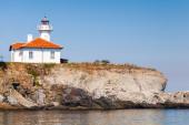 White lighthouse tower on St. Anastasia Island — Stock Photo