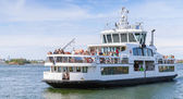 Passenger ship Suomenlinna II with many tourists — Stock Photo